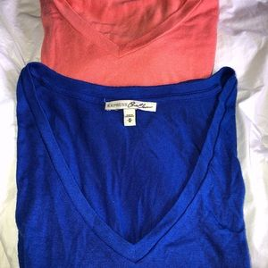 Express One Eleven T-shirts 2 A blue and peach